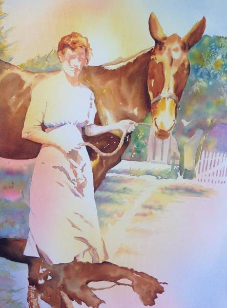 Anna Violet Stubblefield And Lightning Circa1913 Poster