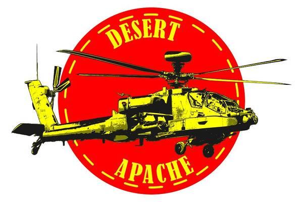 Apache On Desert Poster