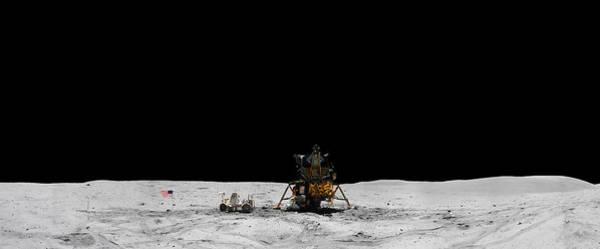 Apollo 16 Landing Site Panorama Poster