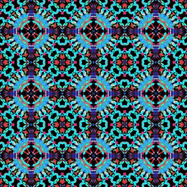 Aqua Geometric Mandala Poster