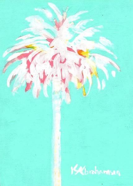 Aqua Marine Palm Poster