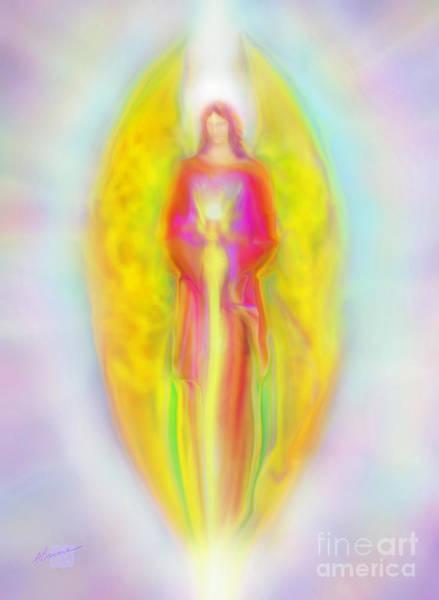 Archangel Michael In Quiet Contemplation  Poster