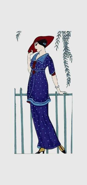 Art Deco Fashion Polka Dots Poster