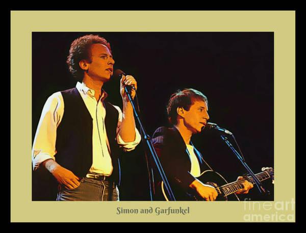 Art Garfunkel And Paul Simon Poster Art Poster