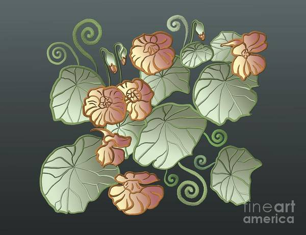 Art Nouveau Garden Poster