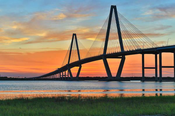 Arthur Ravenel Jr. Bridge At Dusk - Charleston Sc Poster