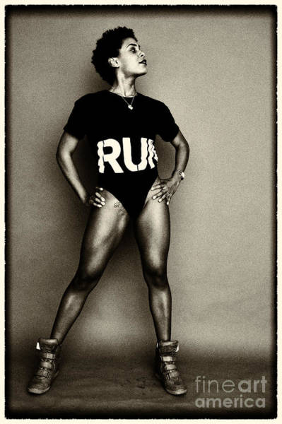 Athletic Woman Poster
