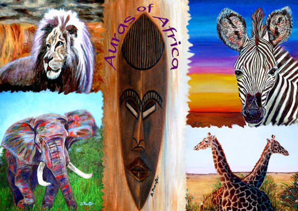 Poster featuring the painting Auras Of Africa by Donna Proctor