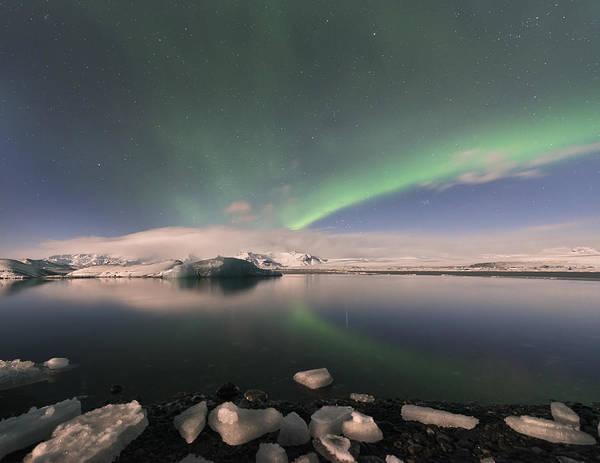 Aurora Borealis And Reflection Poster