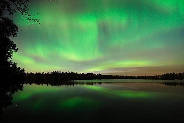 Aurora Over Tofte Lake Poster