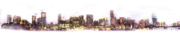 Austin Texas Skyline With White Blackground  Poster