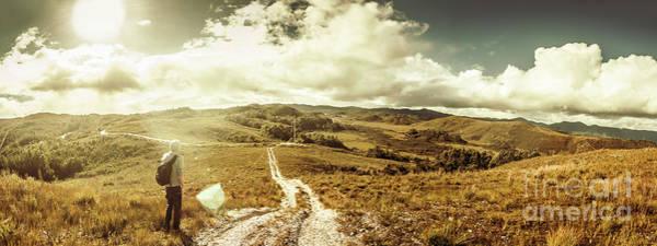 Australian Rural Panoramic Landscape Poster