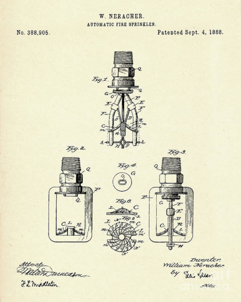 Automatic Fire Sprinkler-1888 Poster