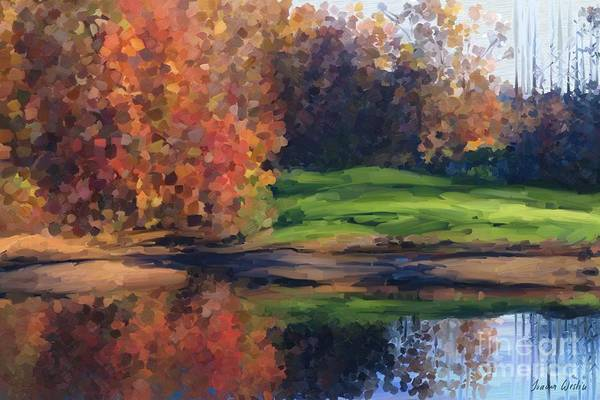 Autumn By Water Poster
