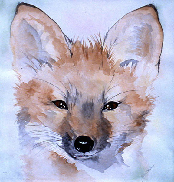 Poster featuring the painting Autumn Fox by Jean Blackmer