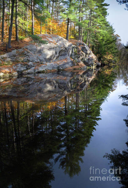 Autumn Reflections At Runaround Pond In Durham Maine  -20224 Poster