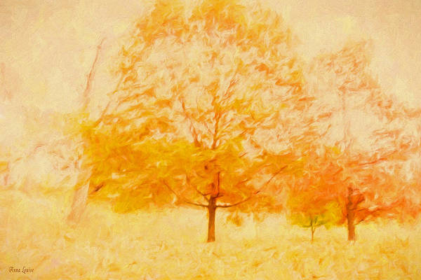 Autumn Trees Abstract Poster