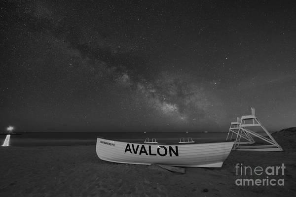 Avalon Milky Way Bw Poster