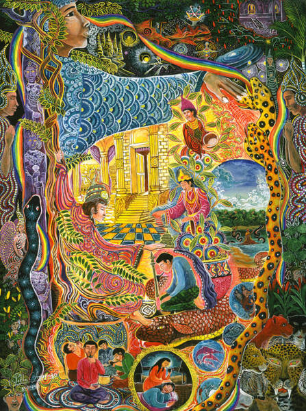 Poster featuring the painting Ayahuasca Chayana by Pablo Amaringo