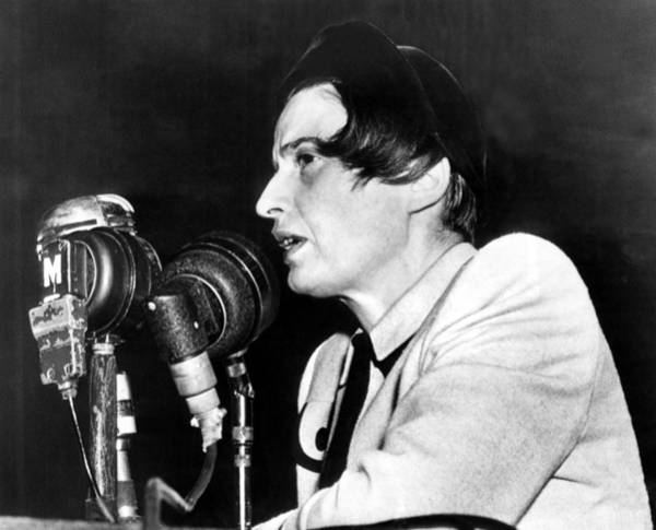Ayn Rand Testifying Before House Poster