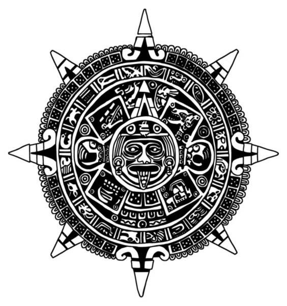 Aztecs Calendar Poster