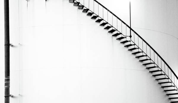 B And W Stairs Poster