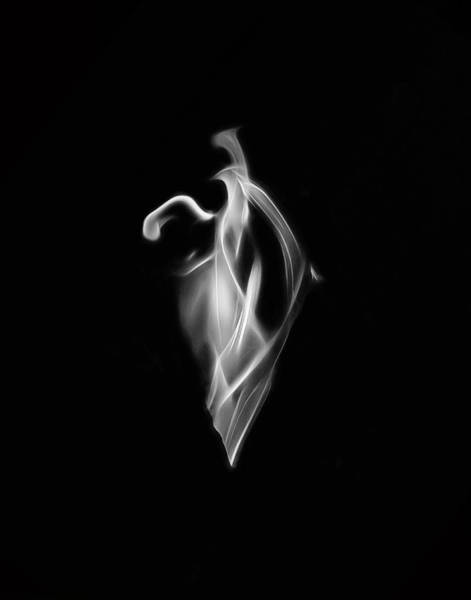 B/w Flame 7092 Poster