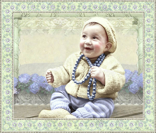 Baby Wears Beads Poster