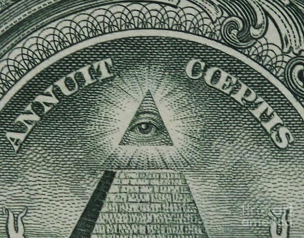 Back Of 1 Dollar Bill Poster