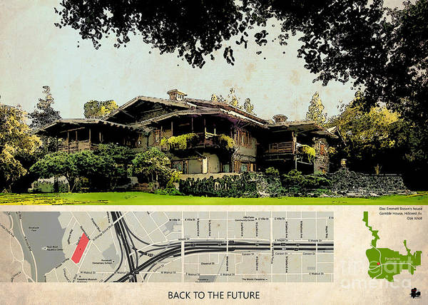 Back To The Future Doc Brown House Poster