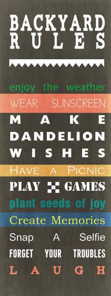 Backyard Rules Poster