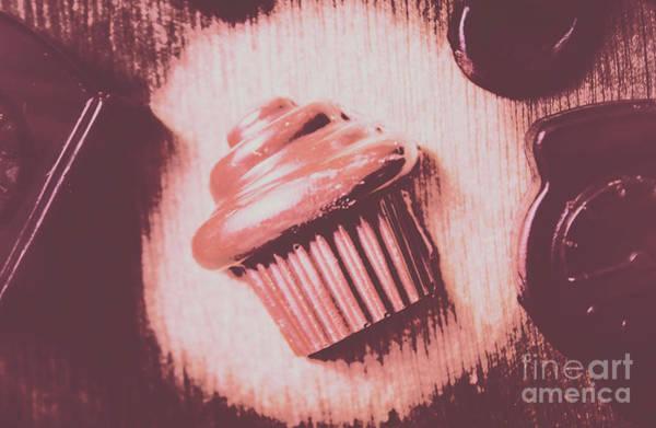 Baking Chocolate Cupcake Poster