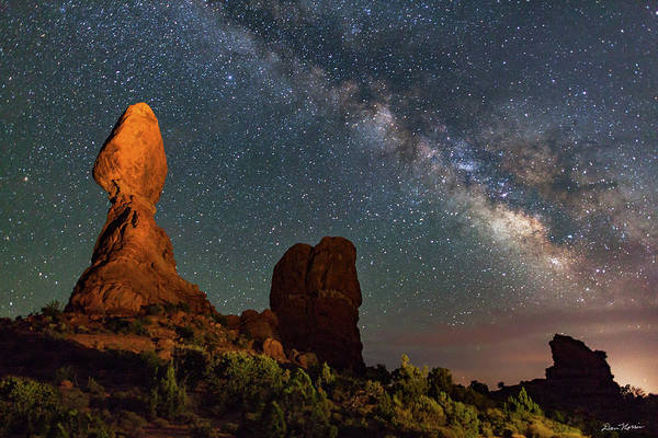 Balanced Rock And Milky Way Poster
