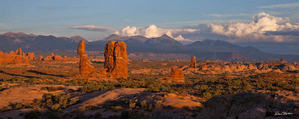 Balanced Rock And Summer Clouds At Sunset Poster