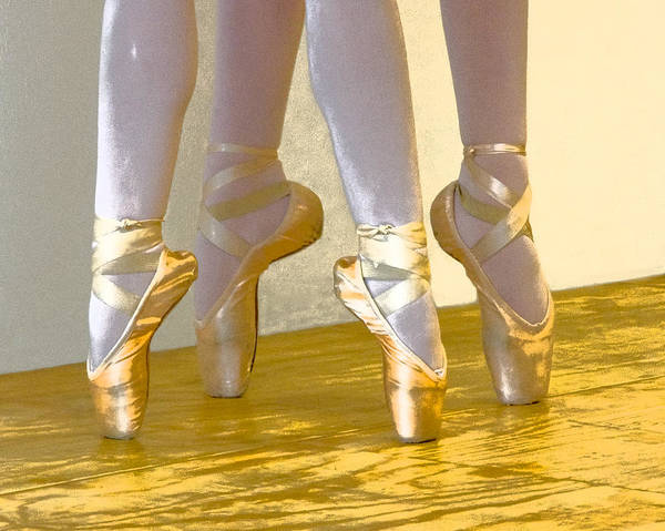 Ballet Second Position In Gold Poster