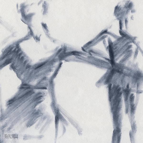 Ballet Sketch Two Dancers Gaze Poster