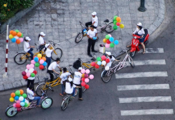 Balloons And Bikes Poster