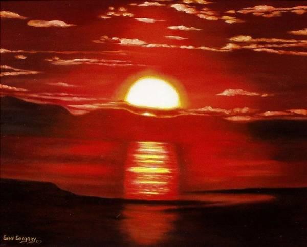 Ballycastle Sunset Poster