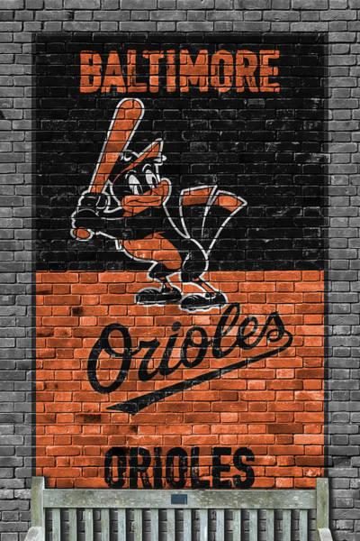 Baltimore Orioles Brick Wall Poster
