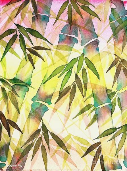 Bamboo Sunrise Poster
