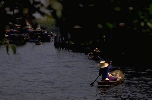Poster featuring the photograph Bangkok Floating Market by Travel Pics