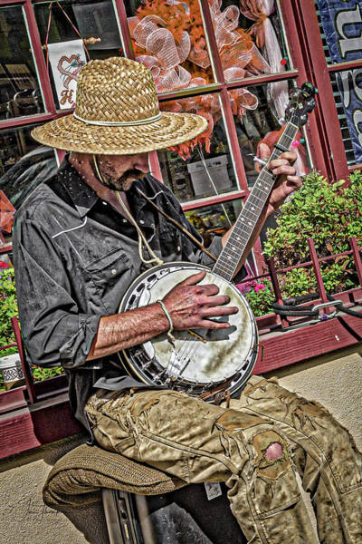 Banjo Man Orange Poster