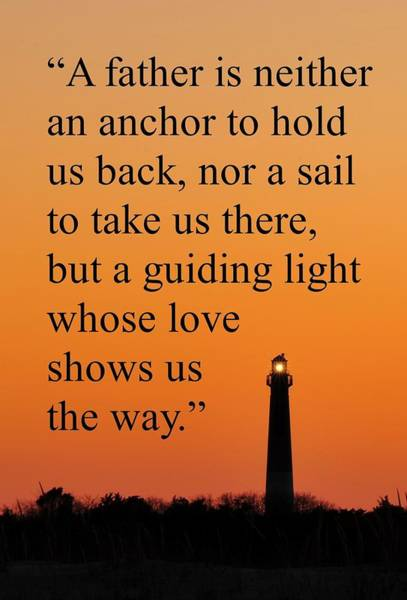 Barnegat Lighthouse With Father Quote Poster