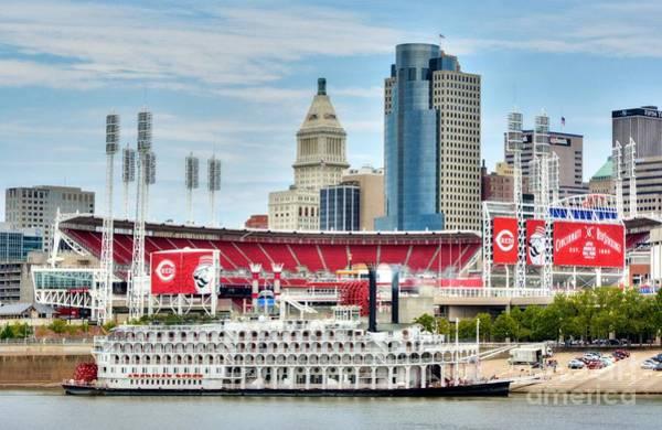 Baseball And Boats In Cincinnati Poster