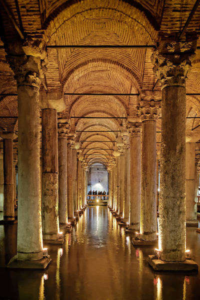 Basilica Cistern Under Istanbul Poster