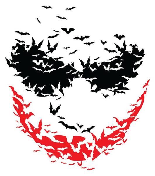 Bat Face Poster