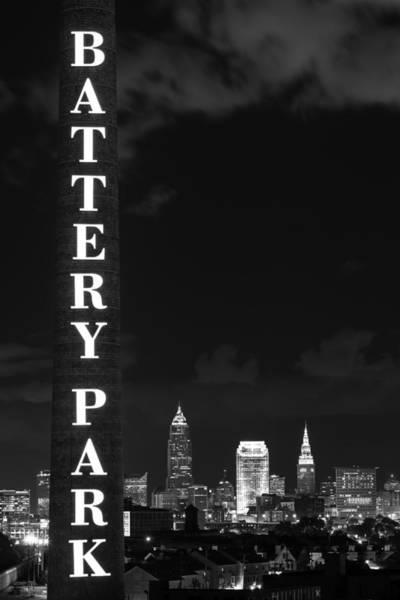 Battery Park Cleveland Skyline Poster
