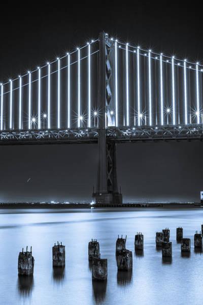 Bay Bridge 2 In Blue Poster