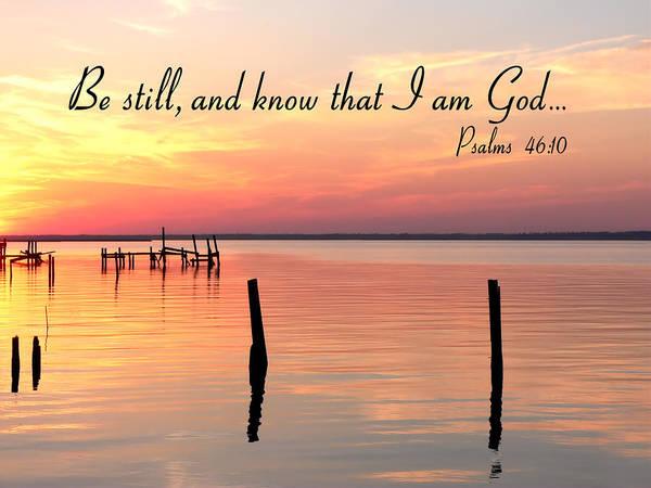 Bay Sunset Psalms Poster
