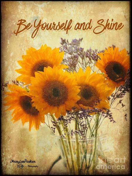 Be Yourself And Shine Poster